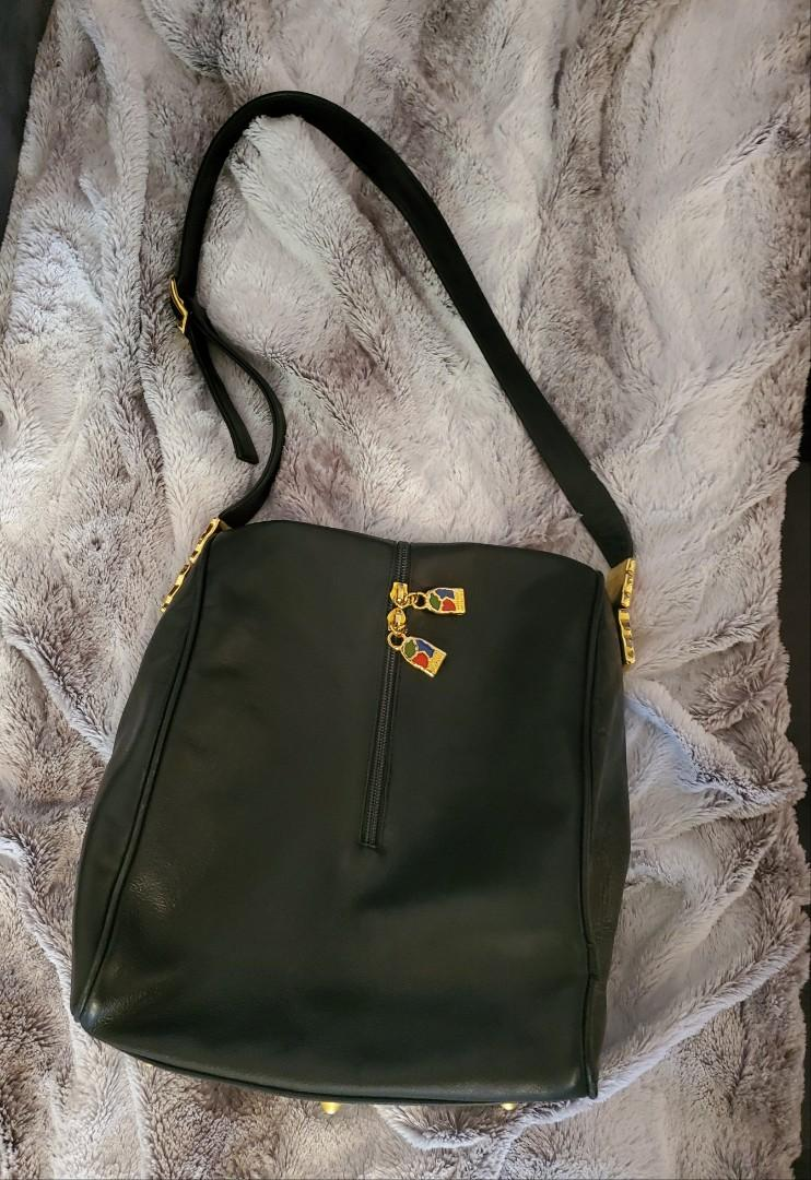 Valentino Orlandi Leather Shoulder Bag Purse