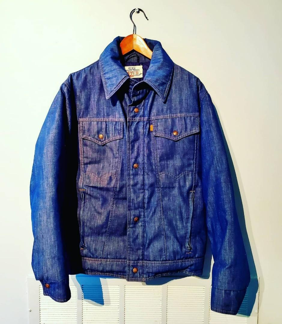 Vintage Rare 1970's Ski Levis Strauss Orange Tab Denim Jacket
