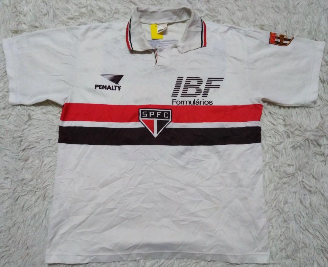 VINTAGE 90S SAO PAULO BRAZIL FOOTBALL CLUB JERSEY