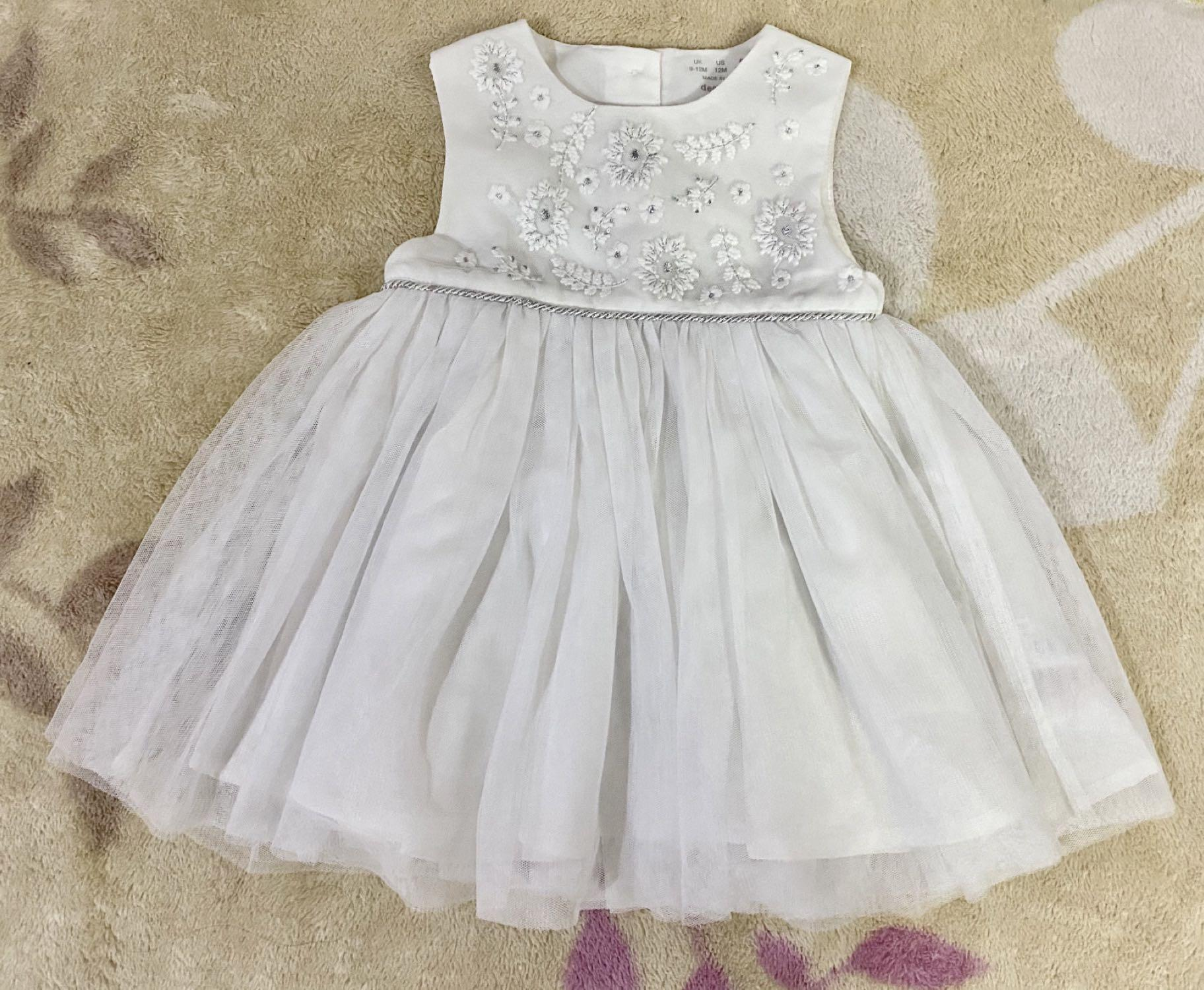 White Party Dress baby girl UK New no tag