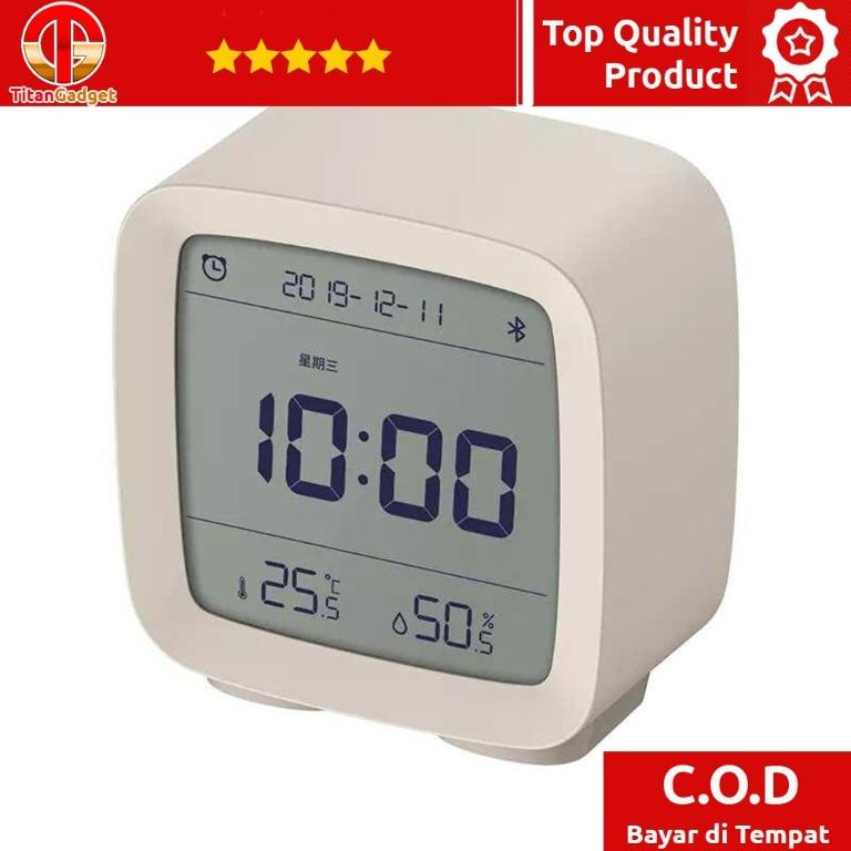 Xiaomi Qingping Jam Meja Smart Alarm Clock Temperature Bluetooth CGD1 TitanGadget