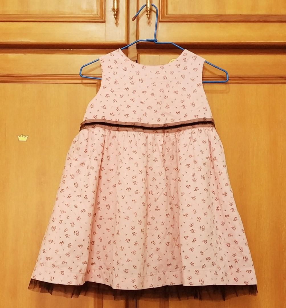 全新安妮公主秋冬絨布小洋裝110cm(版小90-100cm)