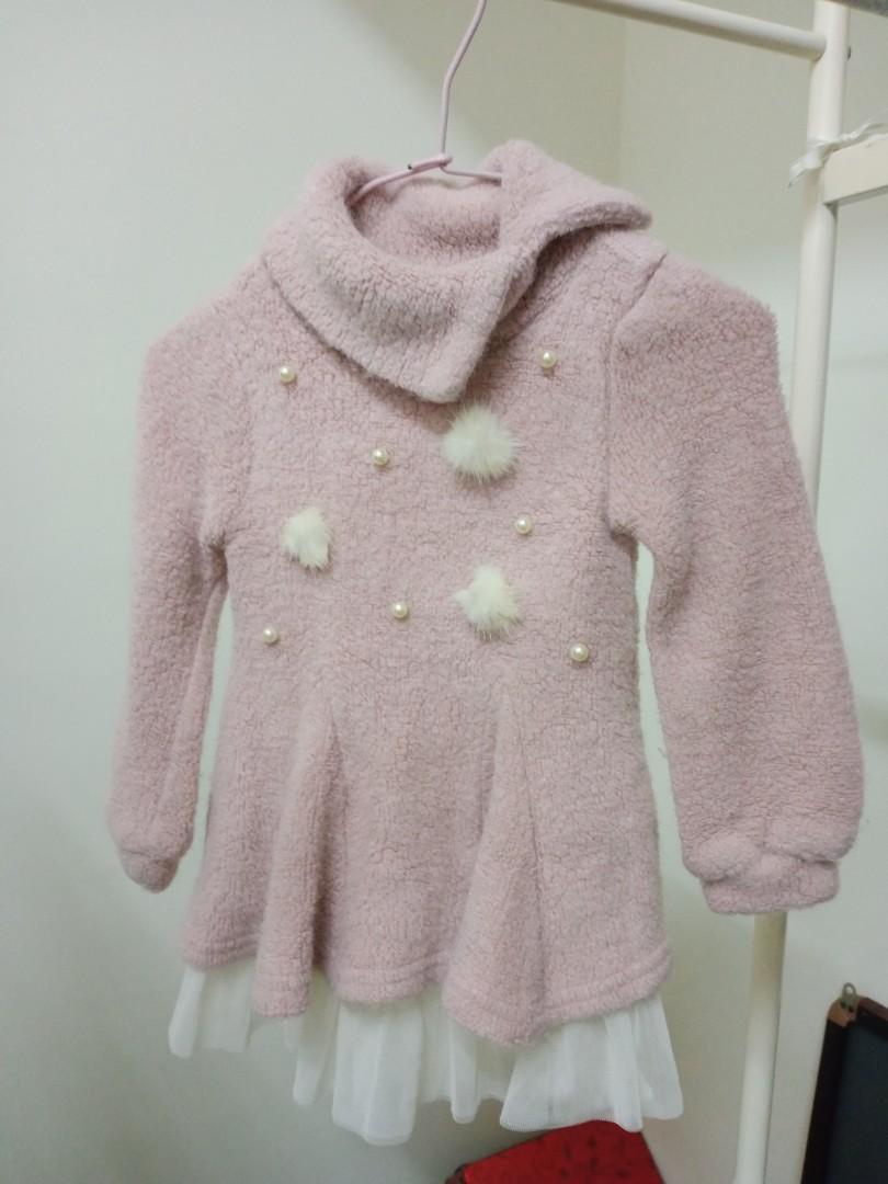 冬季幼兒厚毛洋裝110cm