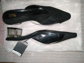 38 Zara Transparant Heels