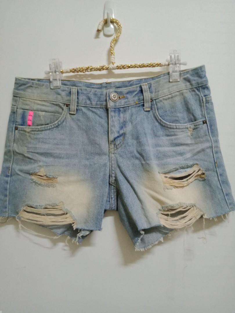正韓牛仔短褲