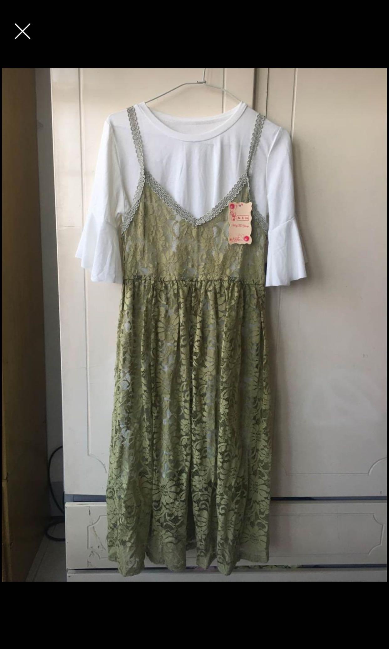 全新洋裝兩件式