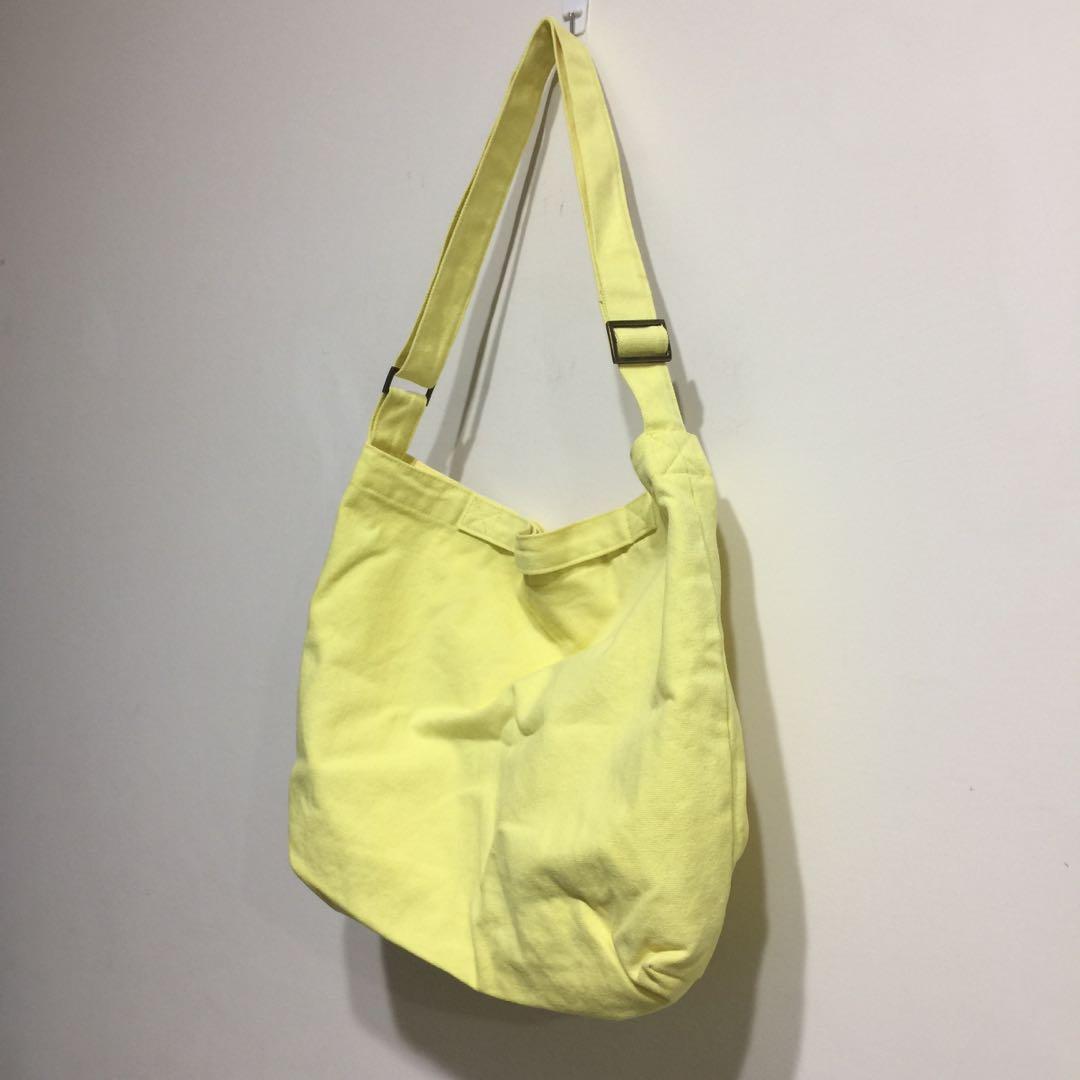 檸檬黃帆布包 Pinkoi