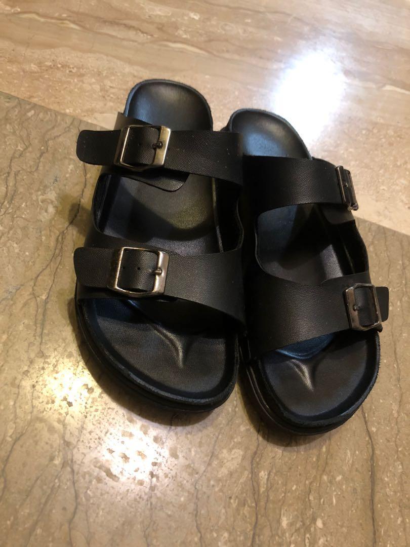 黑色拖鞋 23.5 ~ 23