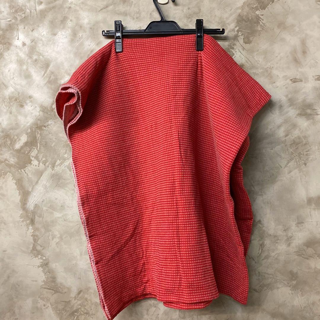 布料-紅色細格紋包心紗刷毛針織布 適合做衣服、包沙發、被套、秋冬的材質 270*150 便宜賣