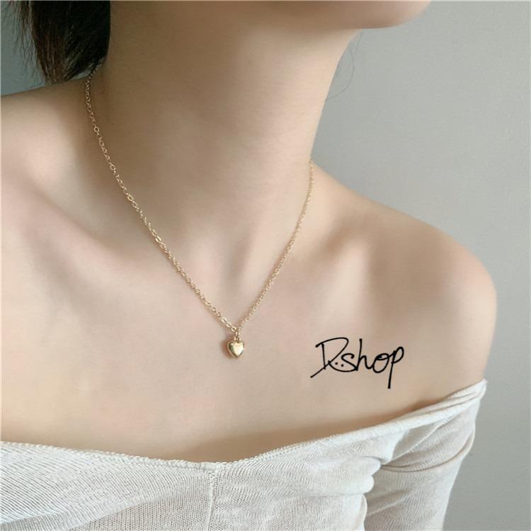 冷淡簡約風項鍊 愛心項鍊 小眾設計愛心項鍊 項鍊