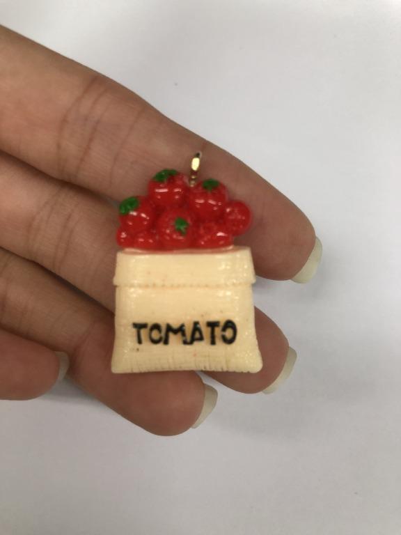 ~福利品~現貨 手作手工製作掛飾吊飾 包包掛飾 鑰匙掛飾-番茄