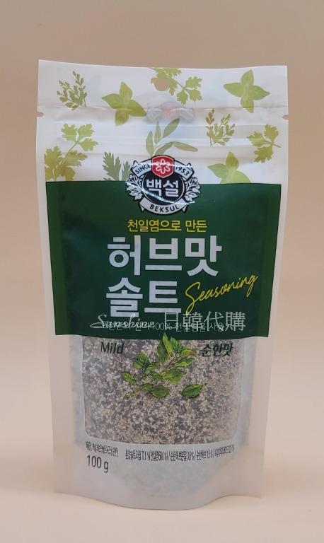現貨 韓國食品 CJ 白雪牌 迷迭香 調味鹽  補充包 夾鍊式 香料