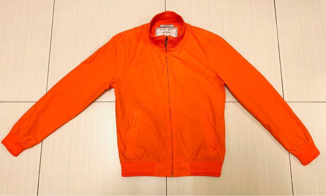 專櫃帶回 保證真品 ZARA 橘色款合身休閒外套