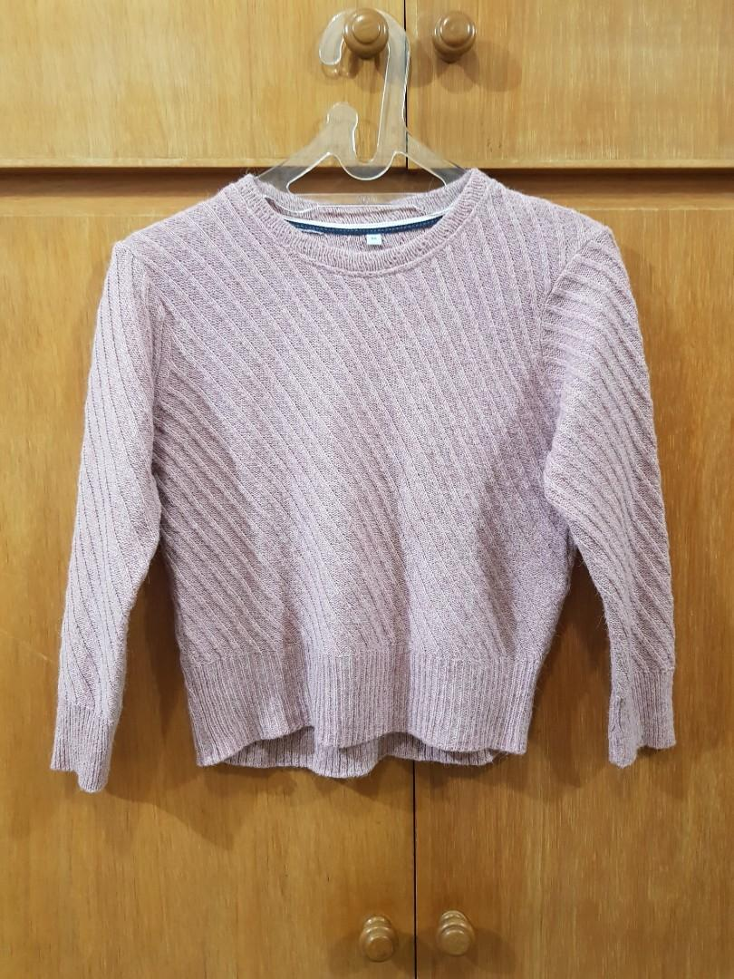 🌸   Sweater Crop baby pink