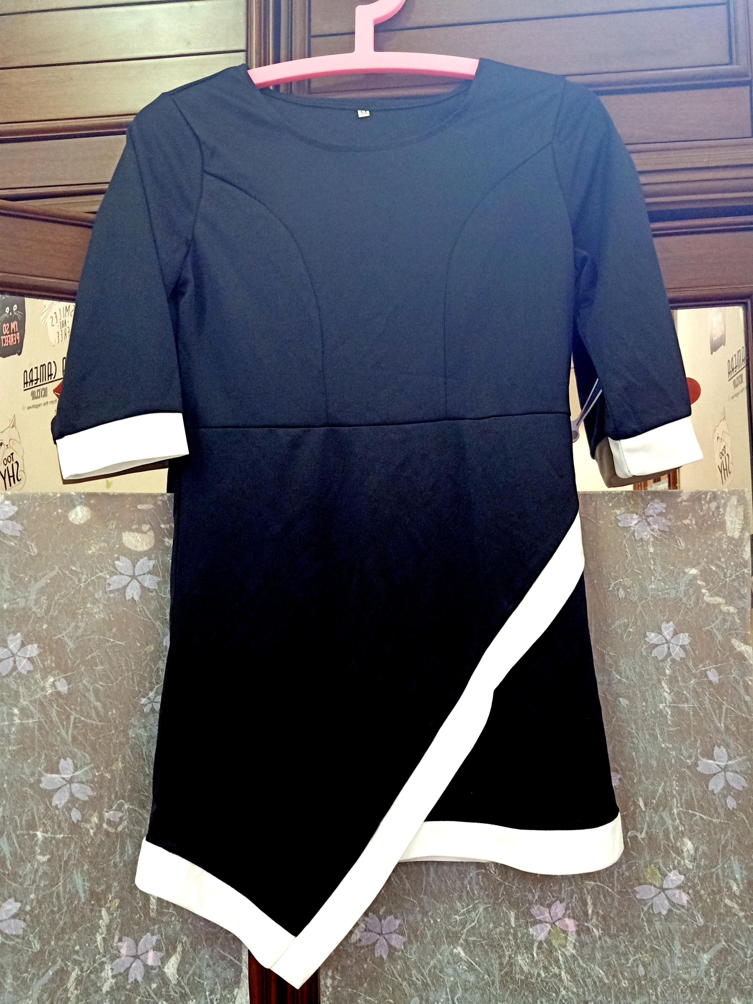 Asymetric Black White Dress (open barter)
