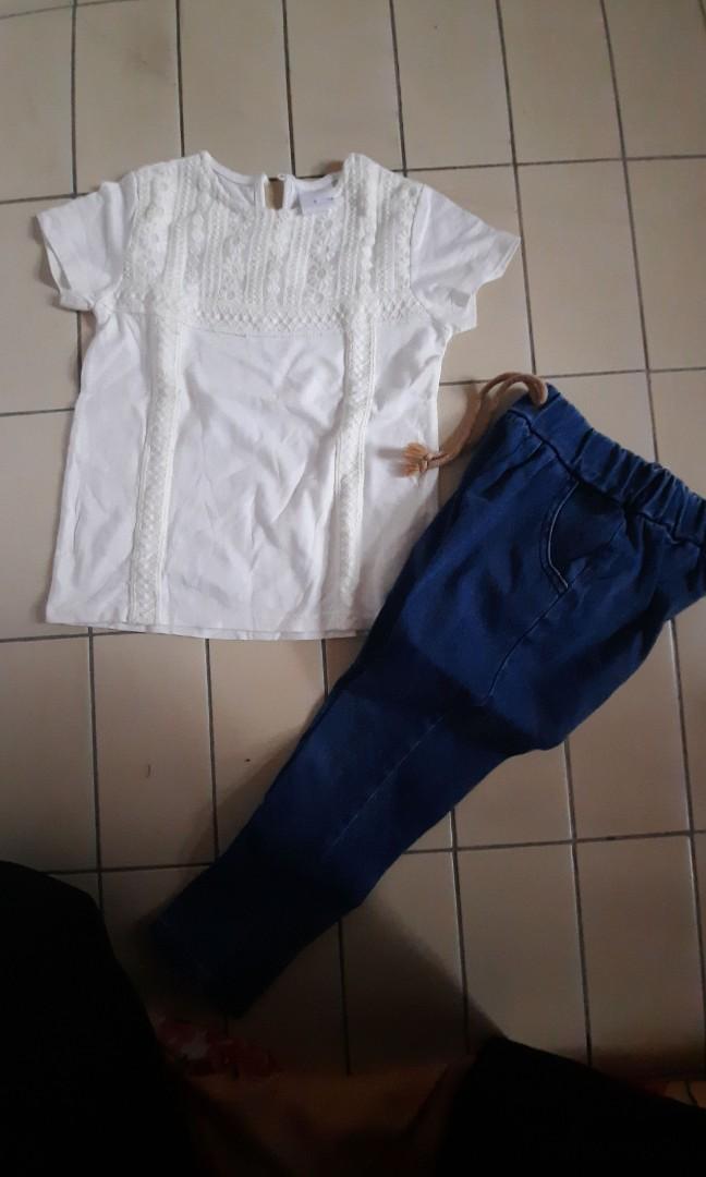 Atasan zara dan  jeans