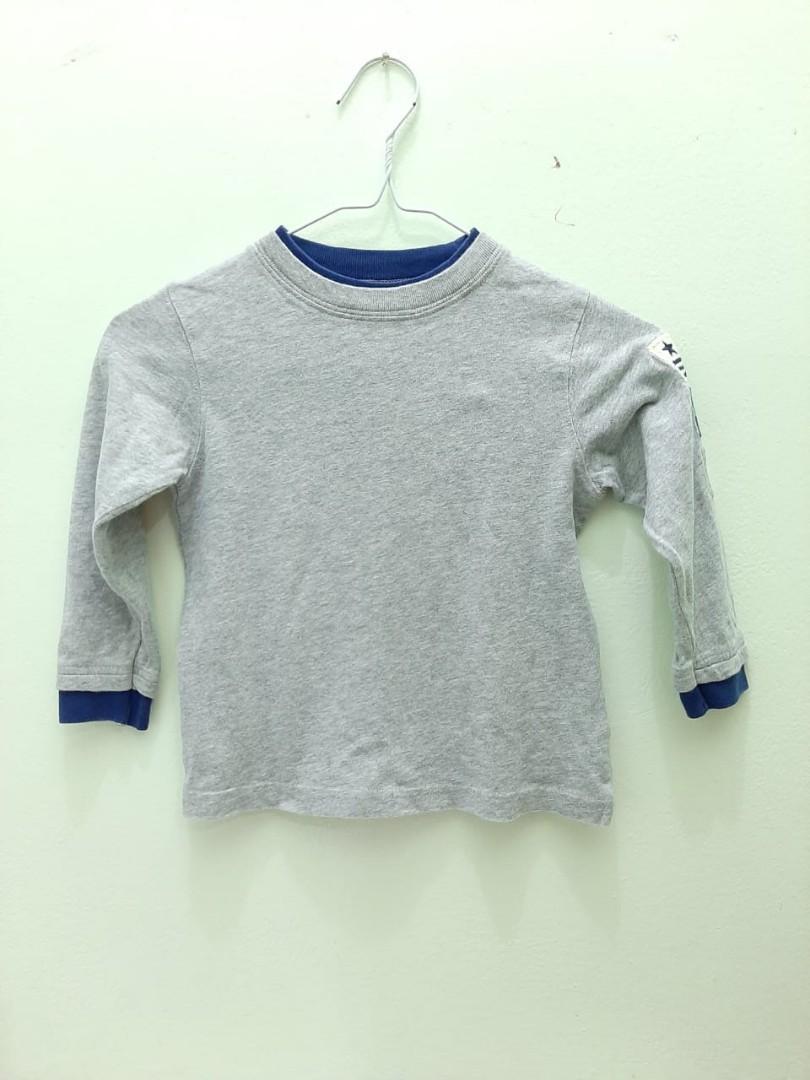 BABY GAP Grey Long Sleeve Top