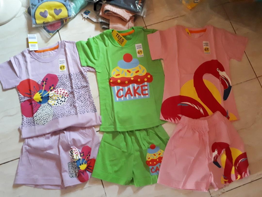 Baju Anak tees kids 6 tahun 100% catton