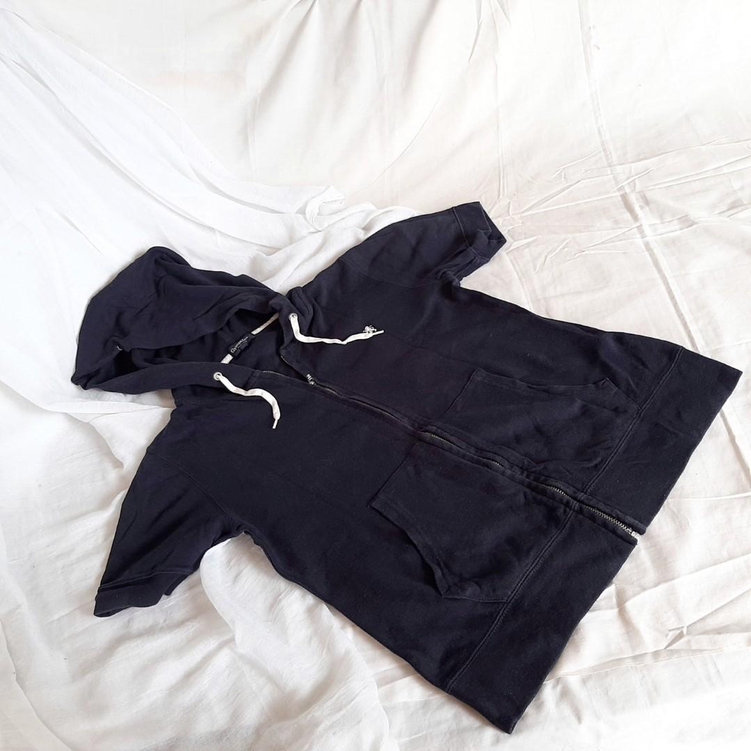 Baju jaket olahraga navy gymphlex england