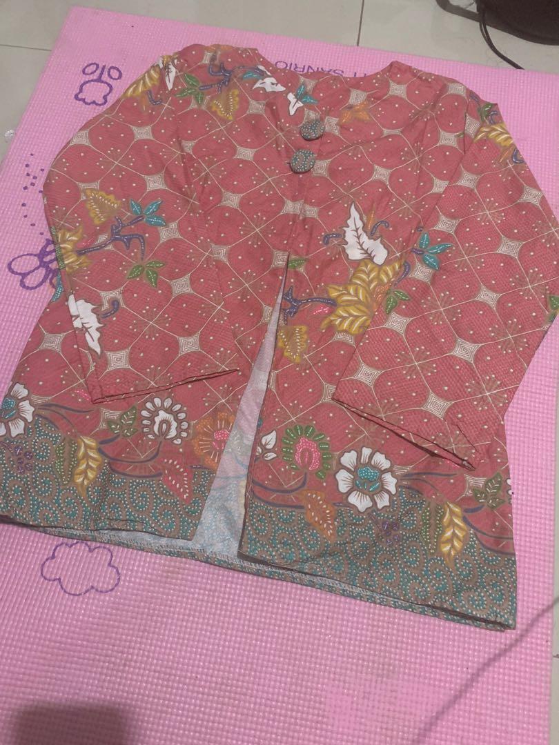 Batik kencana ungu model outer #oktoberovo