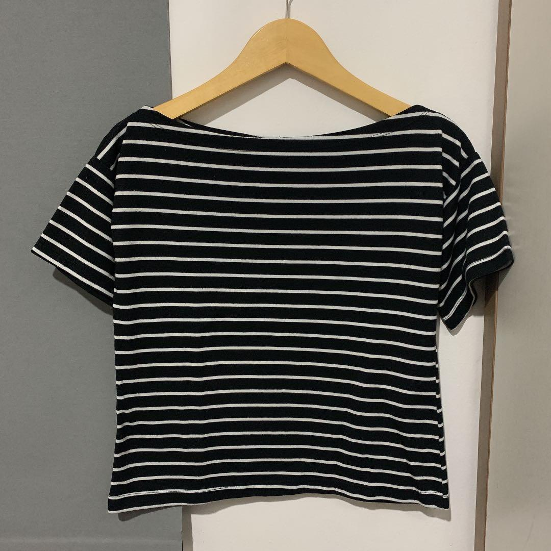 black stripes korean top