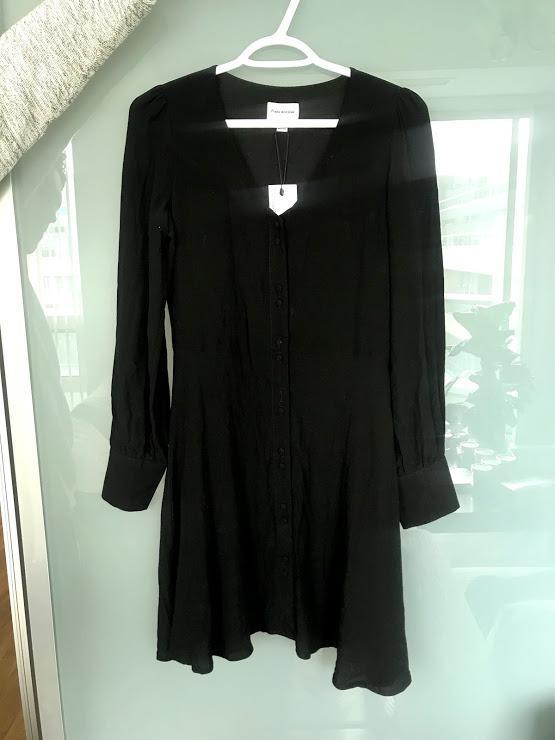 BNWT Frank & Oak Black Long Sleeve Mini Dress Size XS