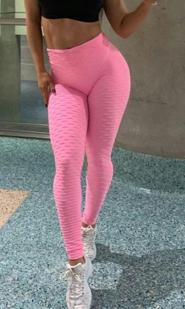 Brand New Pink Brazilian Scrunch Booty Leggings