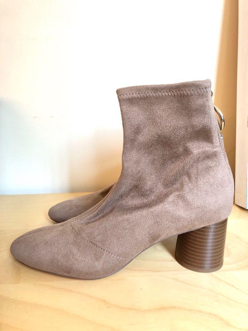 Brand New Zara Beige Ankle Boots