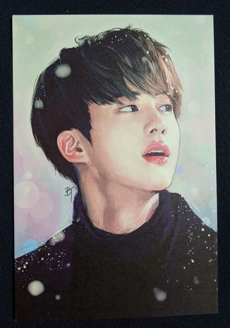 BTS Fanart Postcard Fake Love Taehyung V Postcard Bangtan Postcard BTS Fake Love Postcard BTS Postcard Fake Love Art