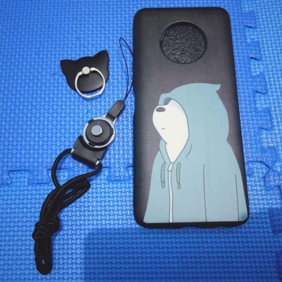 Case Infinix Note 7/X690+ring+tali gantungan