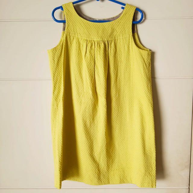 catimini yellow dress baju anak Sz 8