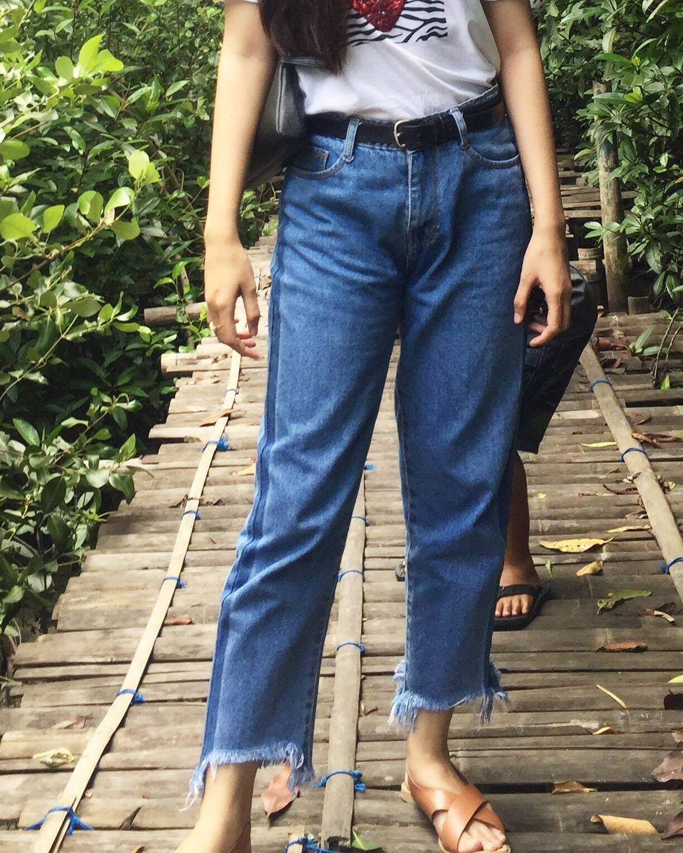 Celan boyfriend jeans list unfinished