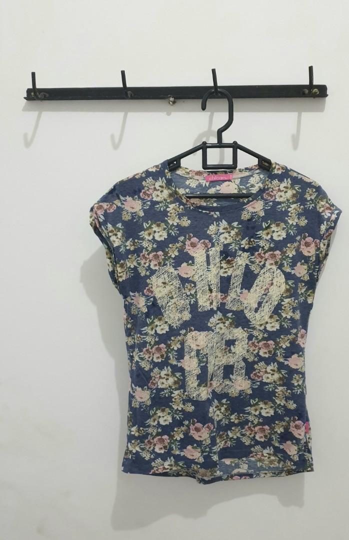 Chicgirl flower t-shirt / kaos bunga