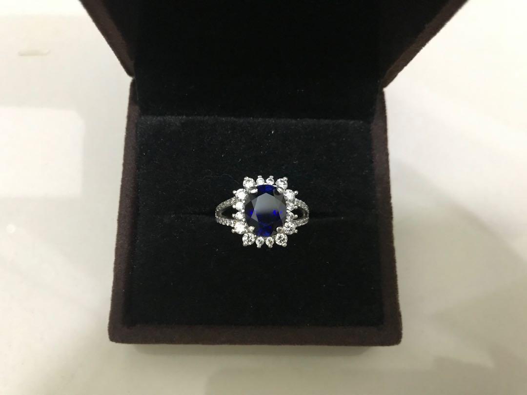 Cincin Blue Sapphire Diana