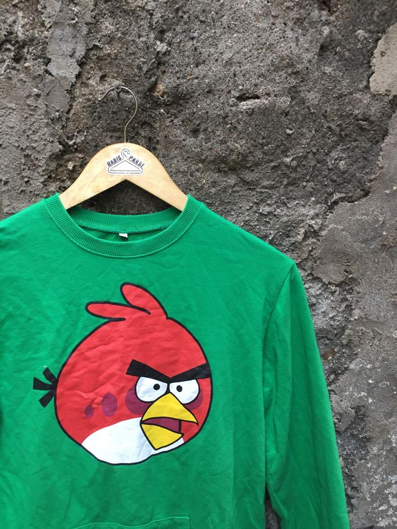 Crewneck Gree By Angry Birds