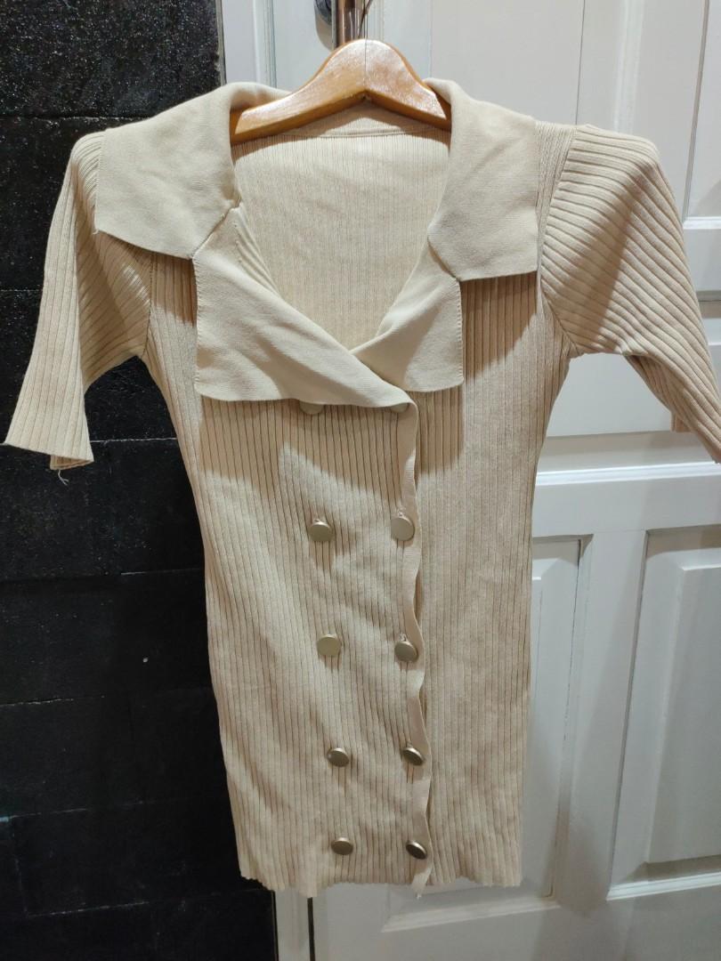 Dress knited import premium