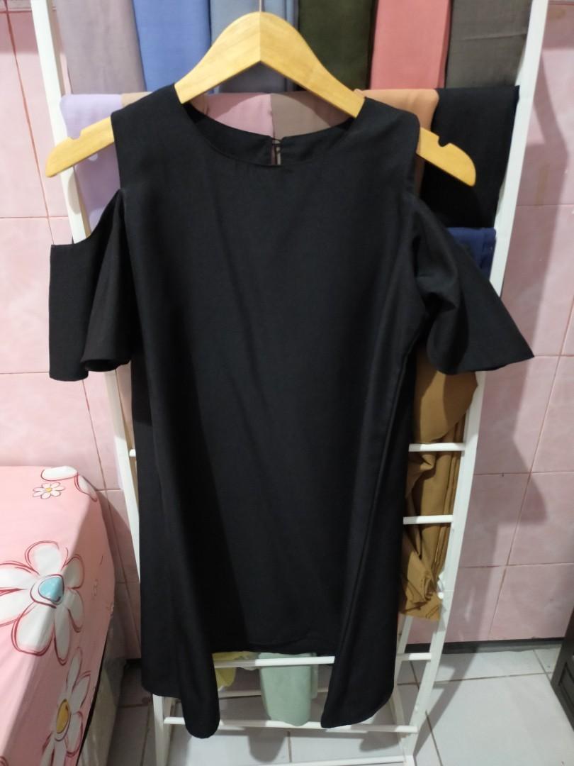 Dress midi hitam / black dress