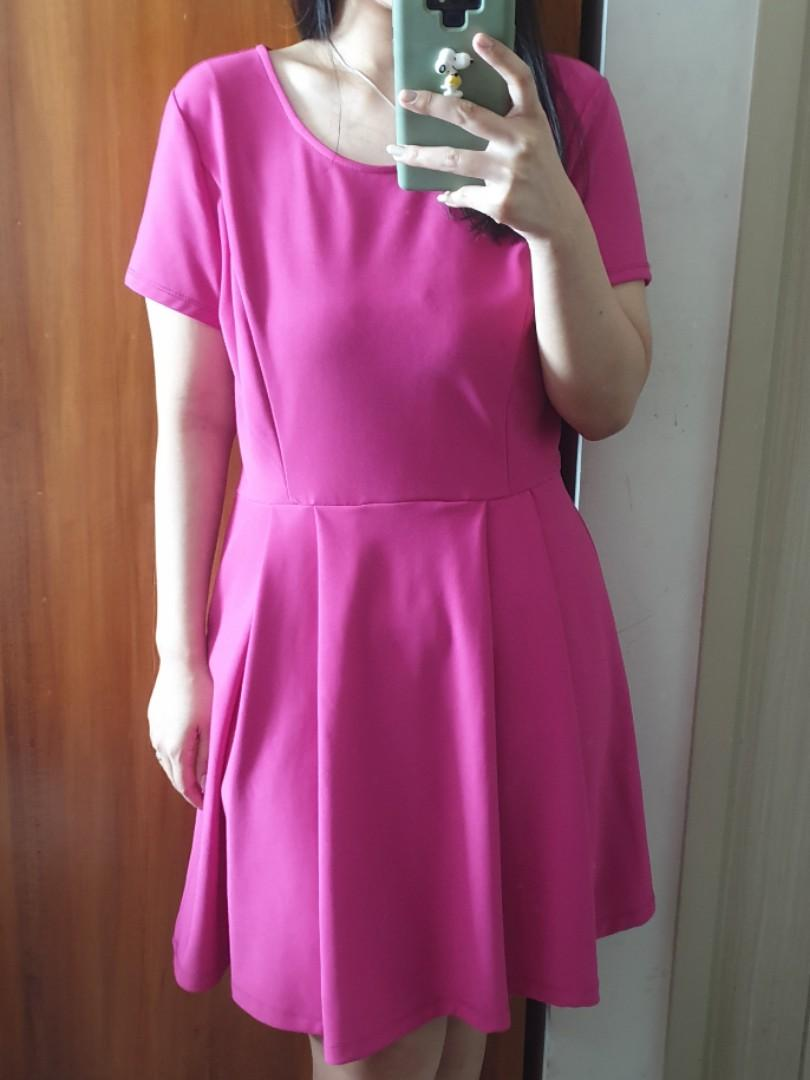 FOREVER21 Fuschia Love Dress