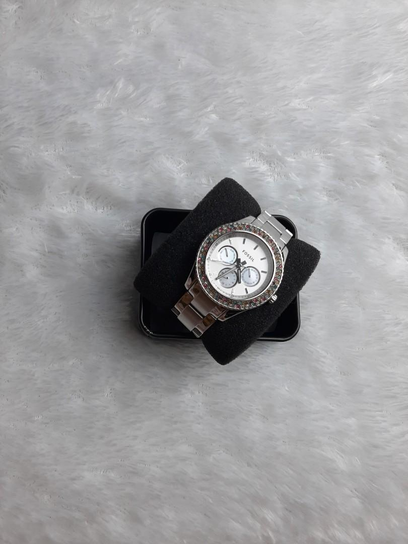 Fossil Silver Multi Diamond Watch ES 3049