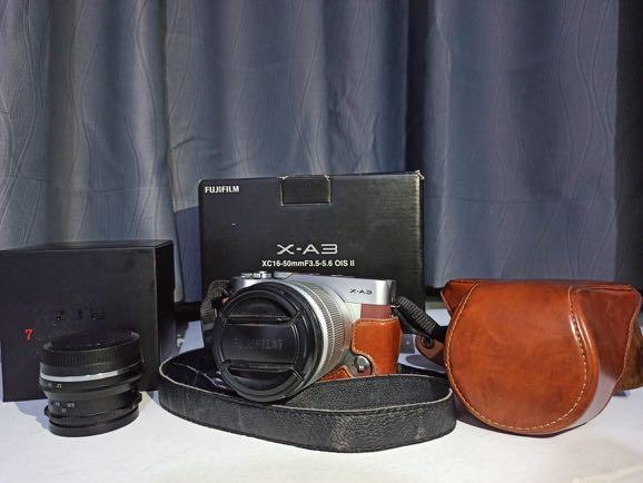 Fujifilm XA-3 kit lensa 16-55 mm (free lensa fix 7artisans)