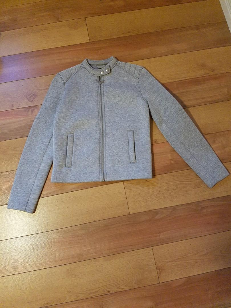 Grey zip up sweater