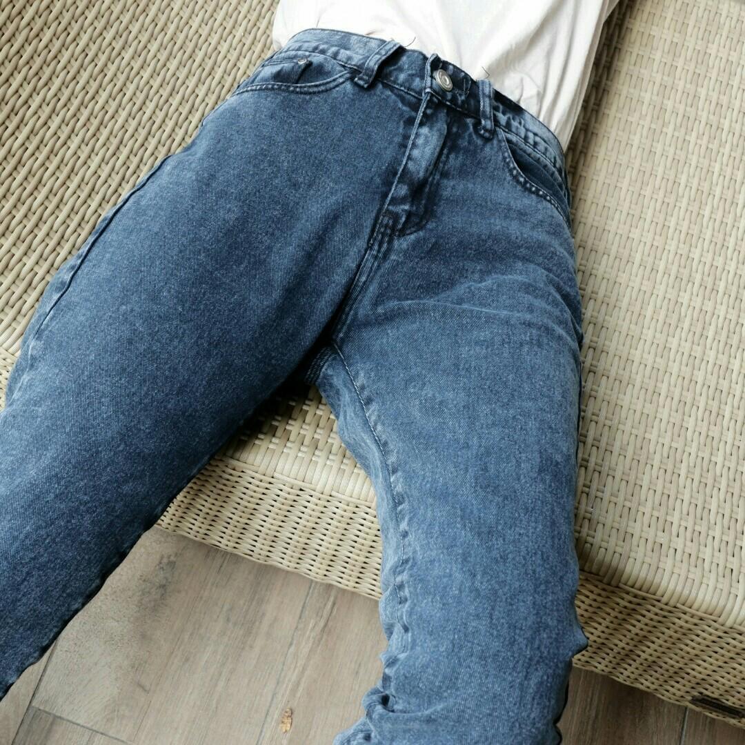 Highwaist Boyfriend Jeans Snow Acid #mauovo #oktoberovo