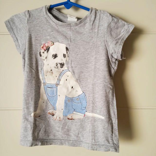 H&M kaos baju anak tee shirt tops Sz 12-18mths