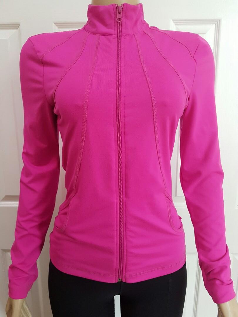 Hot Pink Long Sleeve Workout Top