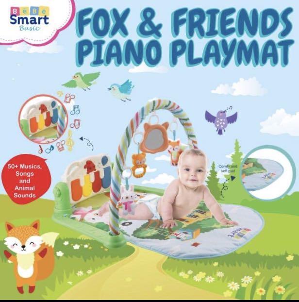 HRG NETT! SPECIAL PRICE NEW!!!Bebe Smart Piano Playgym Fox & Friends