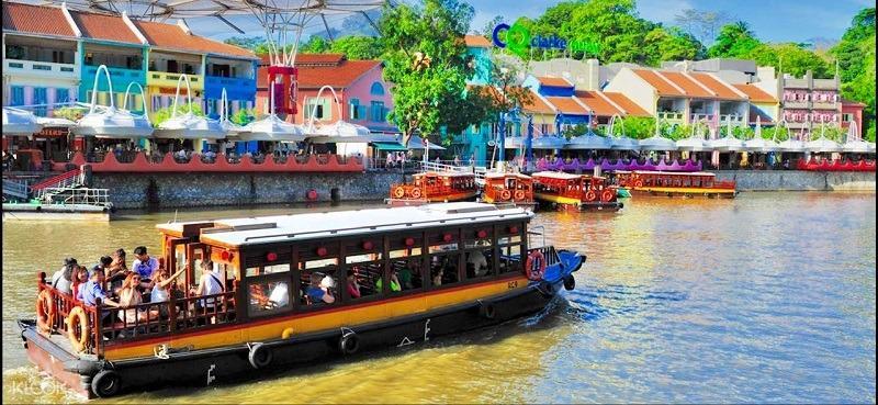 I Singapore River Cruise cheap ticket Boat ride discount Clark quay Zoo Garden by the bay sky park marina Aquarium Universal studios adventure cove cable car zoo river safari night safari