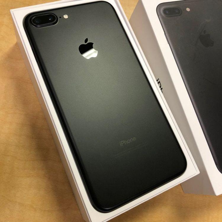 iPhone 7 plus Black Matte 128gb Mulus Fullset