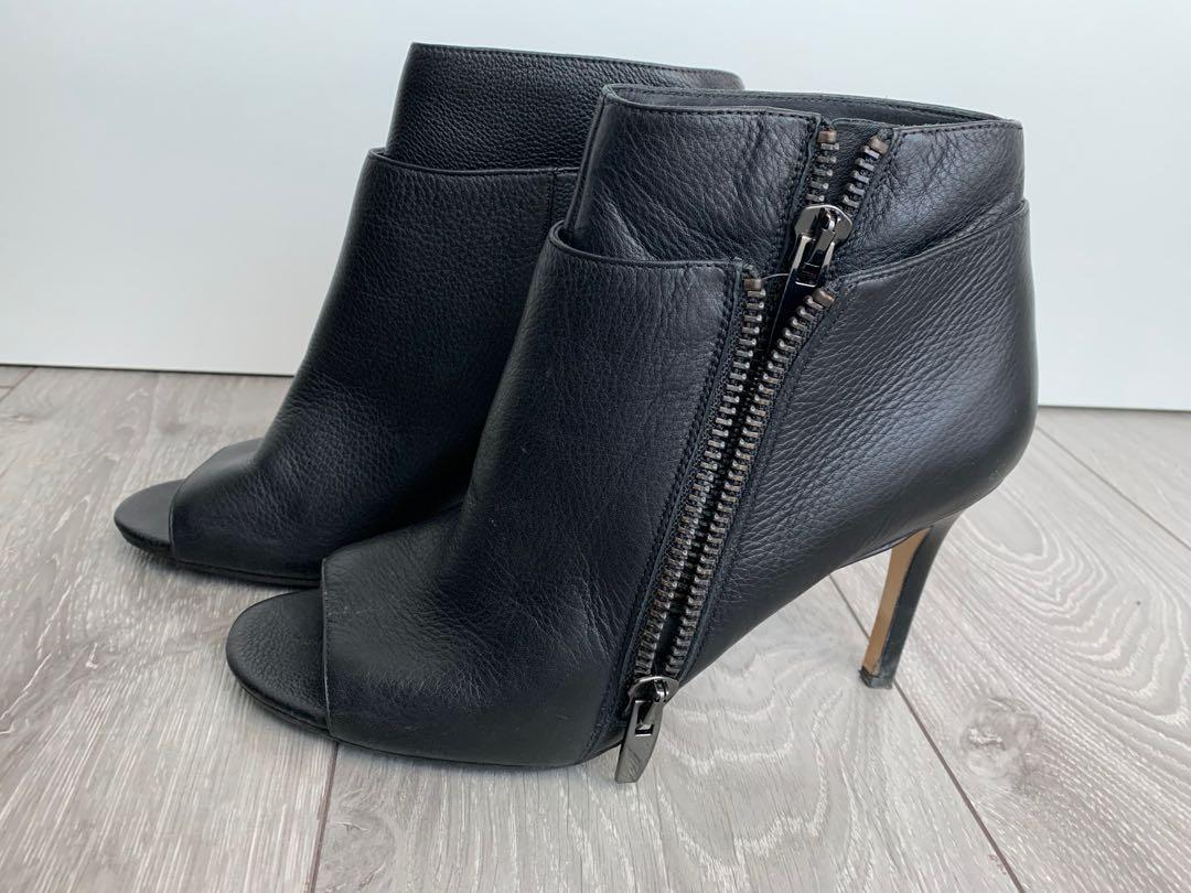 Italian Leather Booties Shoes