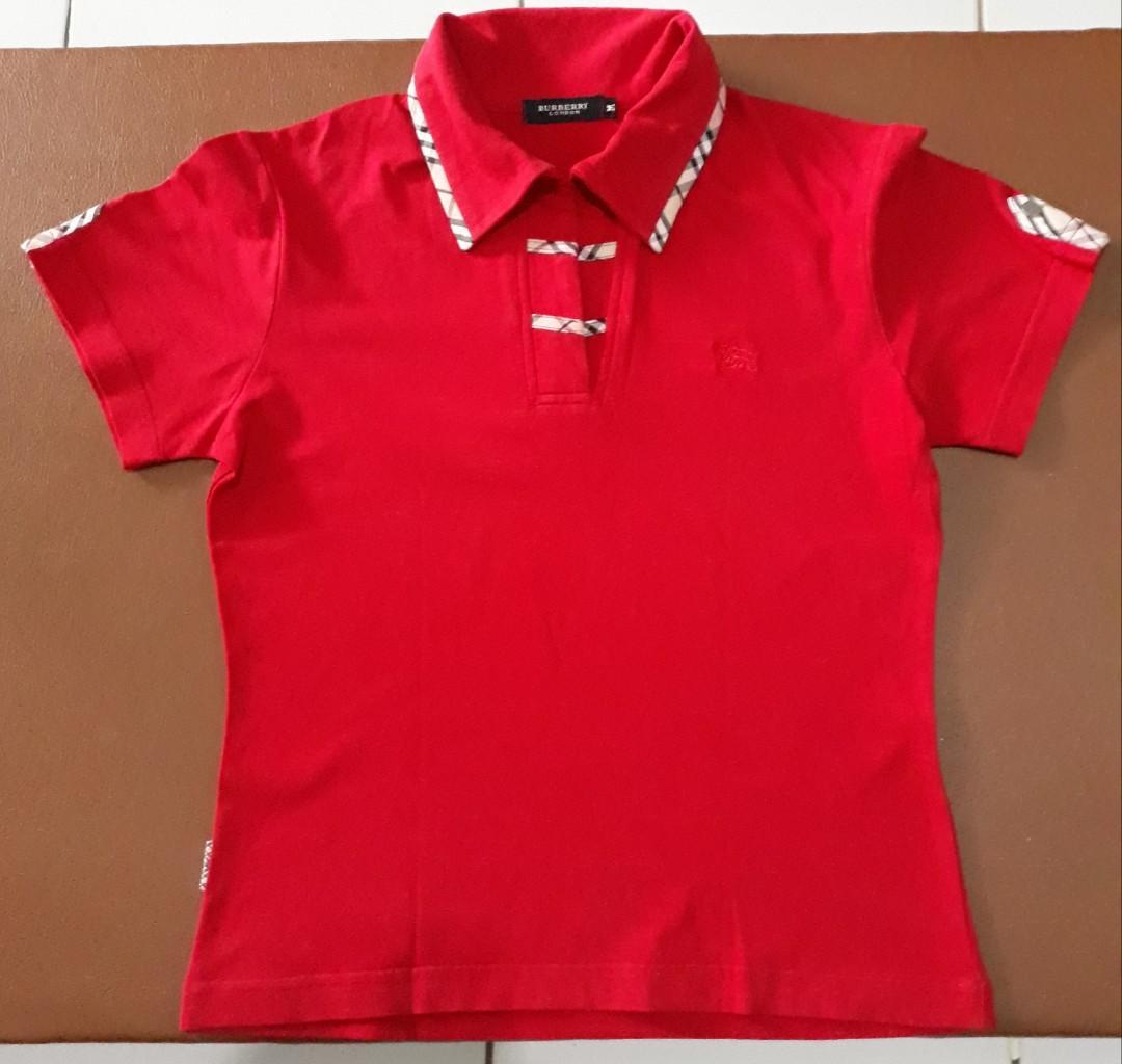 Kaos Merah  Burberry