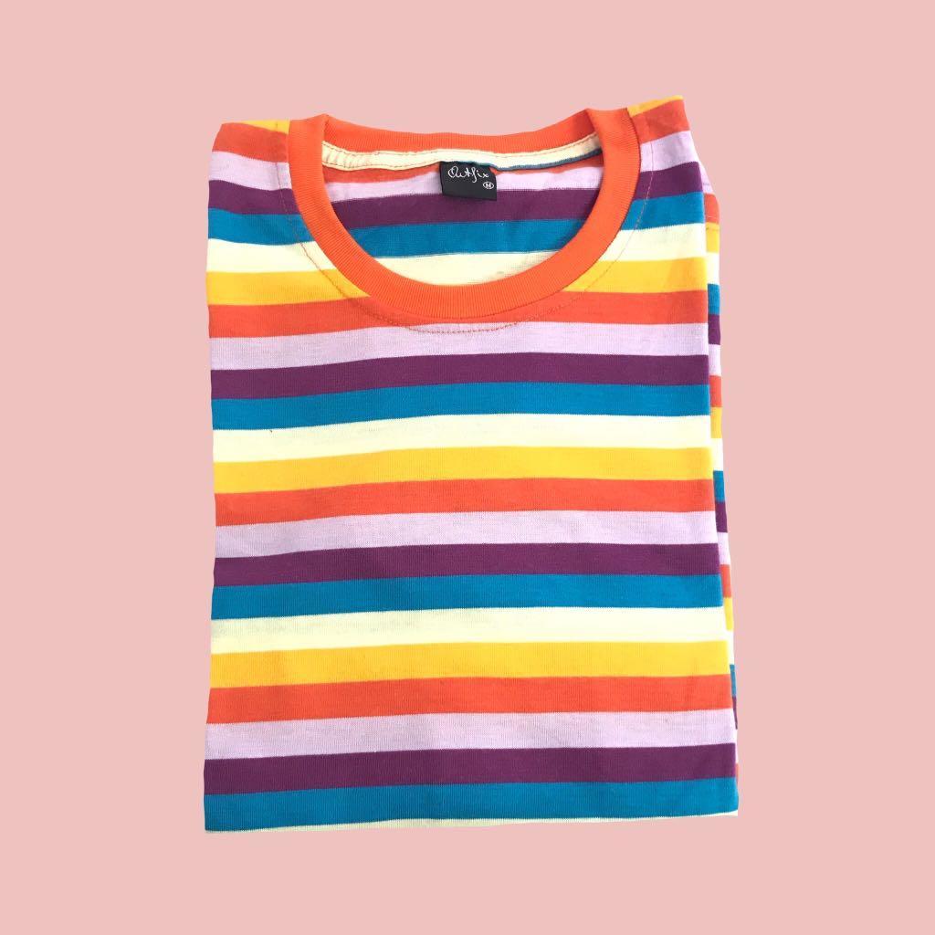 Kaos Stripe Rainbow